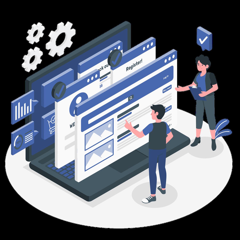 AB Testing concept illustration
