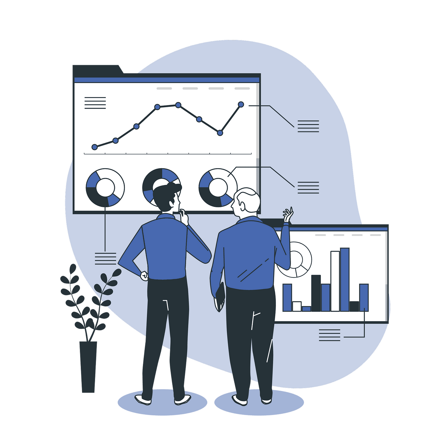 Reporting and Analytics vector illustration
