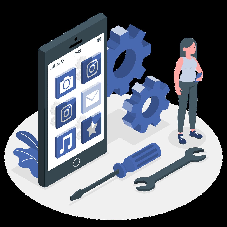 App development vector illustration