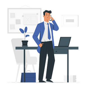 Call Support Illustration