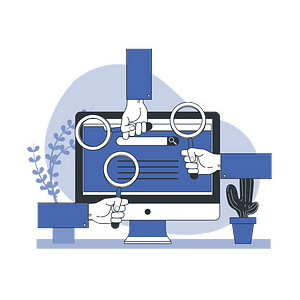 Search Engines Vector Illustration
