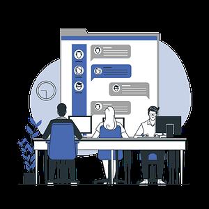 Chat support illustration