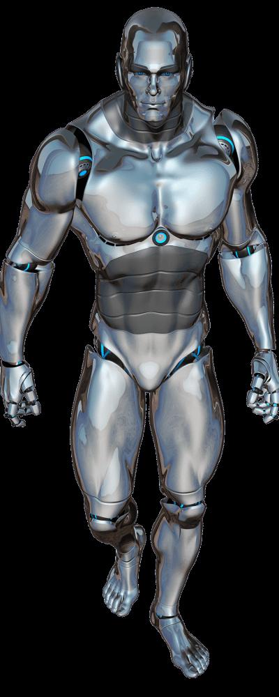 Male robot walking